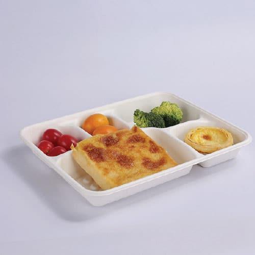 Vassoi per mensa compostabili